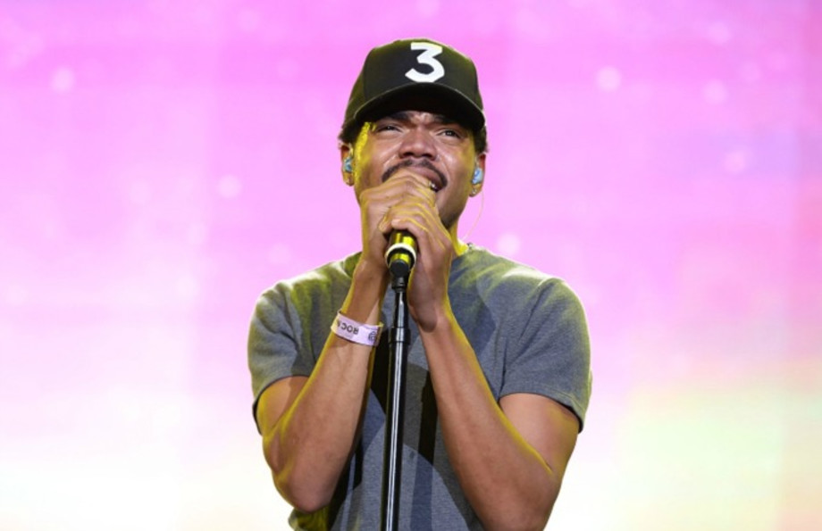 Chance the Rapper performs during a recent concert.