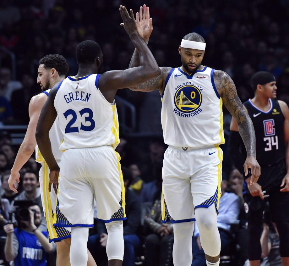 DeMarcus Cousins Draymond Green Clippers Warriors 2019