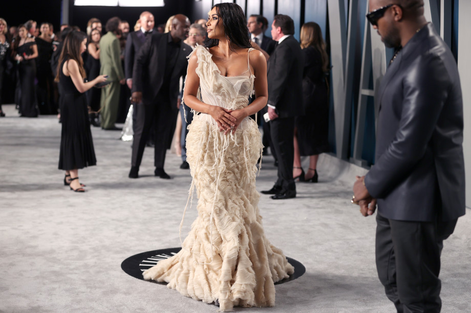 Kim Kardashian Vanity Fair Oscar Party 2020