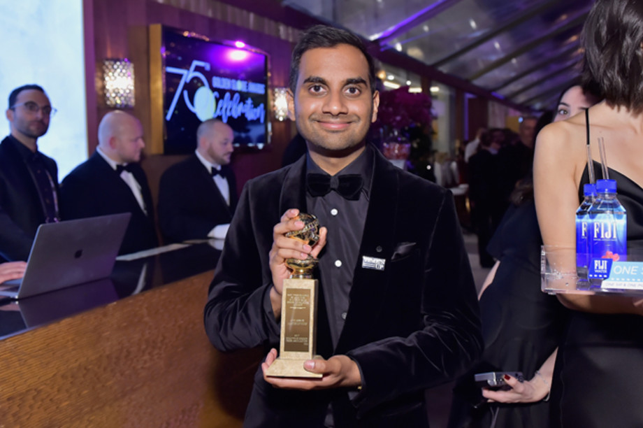 Aziz Ansari attends FIJI Water at HFPA's Official Viewing and After-Party