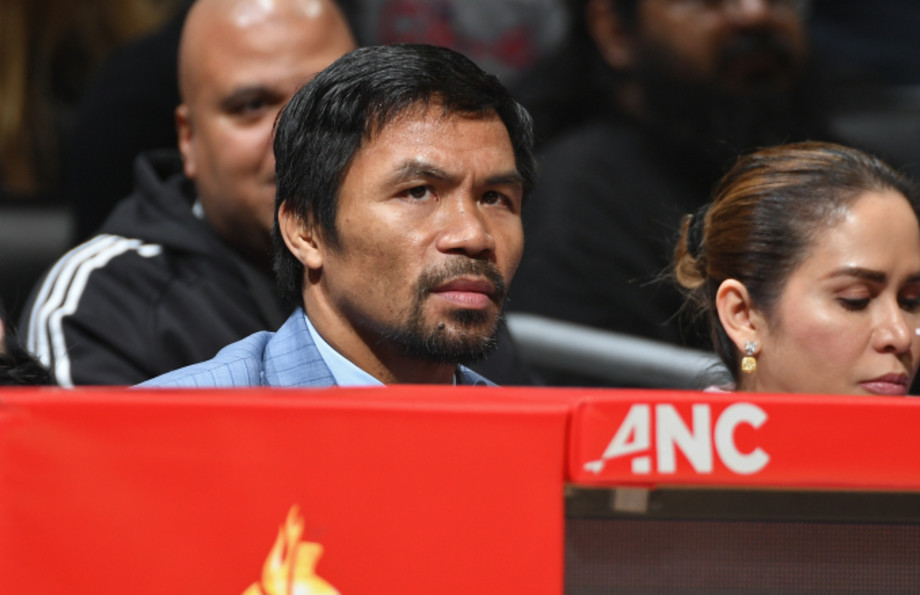 Manny Pacquiao attends the LA Clippers game