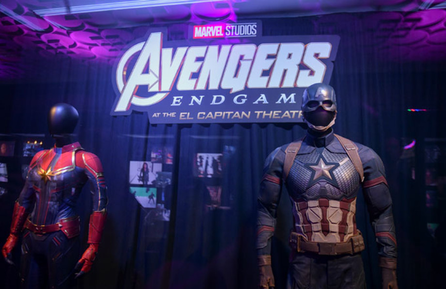 Captain America suit during 'Avengers' event at El Capitan Theater