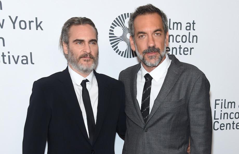 "Joaquin Phoenix and Todd Phillips attend the 57th New York Film Festival ""Joker."""