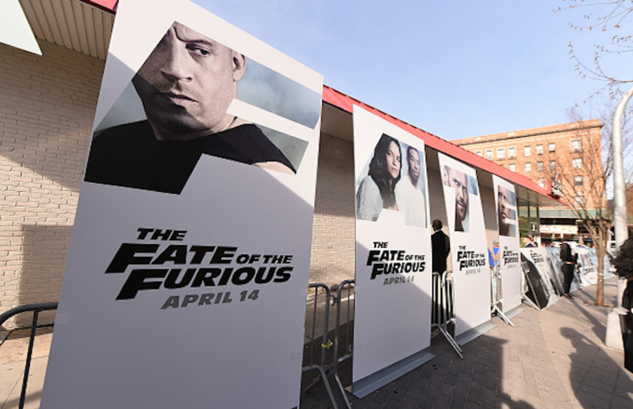 A general view of atmosphere as Vin Diesel and Michelle Rodriguez visit Washington Heights