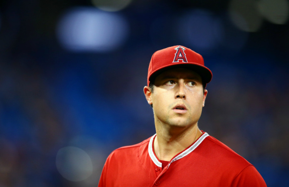 Tyler Skaggs #45 of the Los Angeles Angels of Anaheim