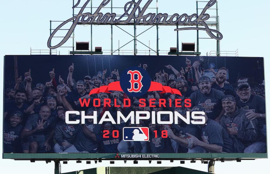World Series Champions 2018 Signage.
