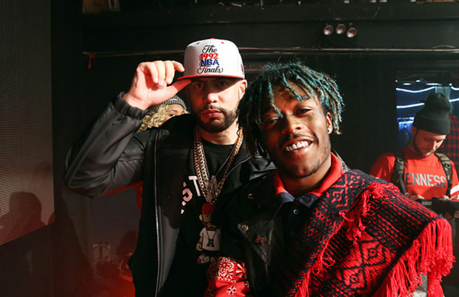 This is a photo of DJ Drama and Lil Uzi Vert.