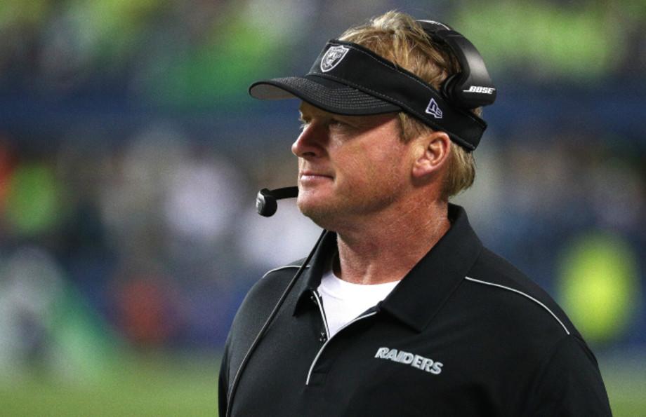 Jon Gruden of the Oakland Raiders