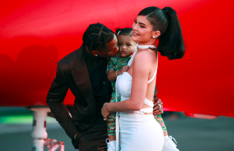 Travis Scott, Kylie Jenner, and Stormi