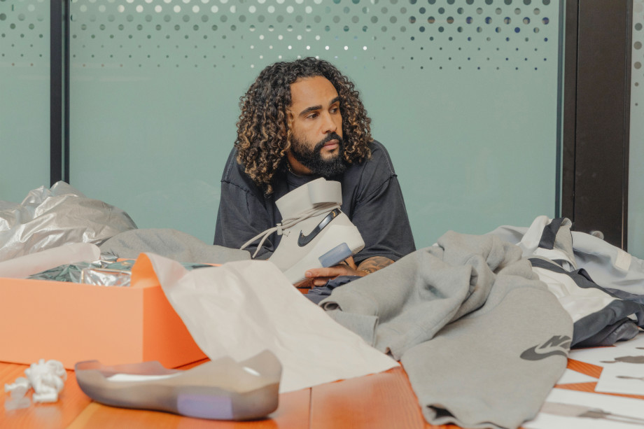 Jerry Lorenzo at Nike's HQ with Nike Air Fear of God collaboration