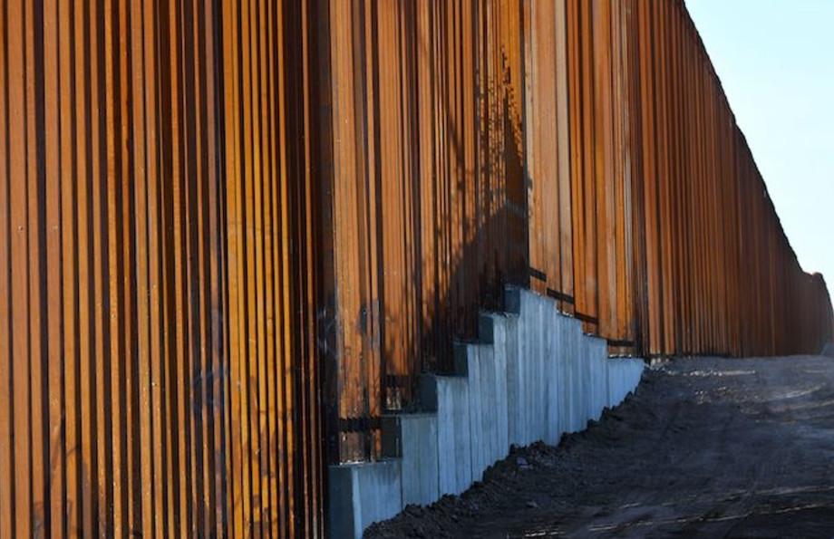 30-foot border wall in the El Centro Sector.