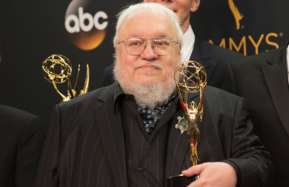 George R. R. Martin at the Emmys in 2016