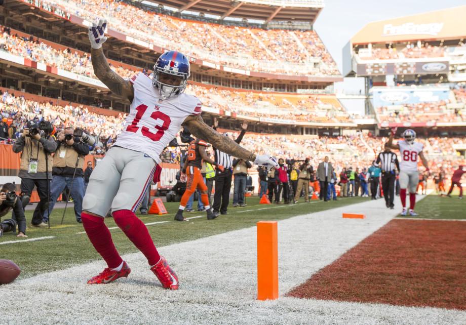 Odell Beckham TD Celebration 2016 Giants 49ers