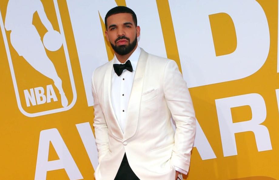 Drake at the NBA Awards.