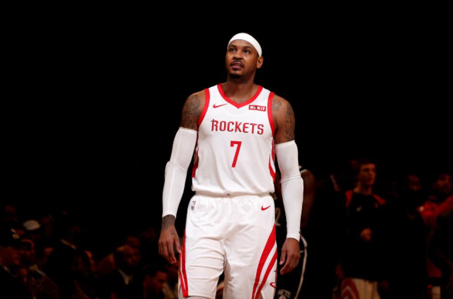 Carmelo Anthony #7 of the Houston Rockets