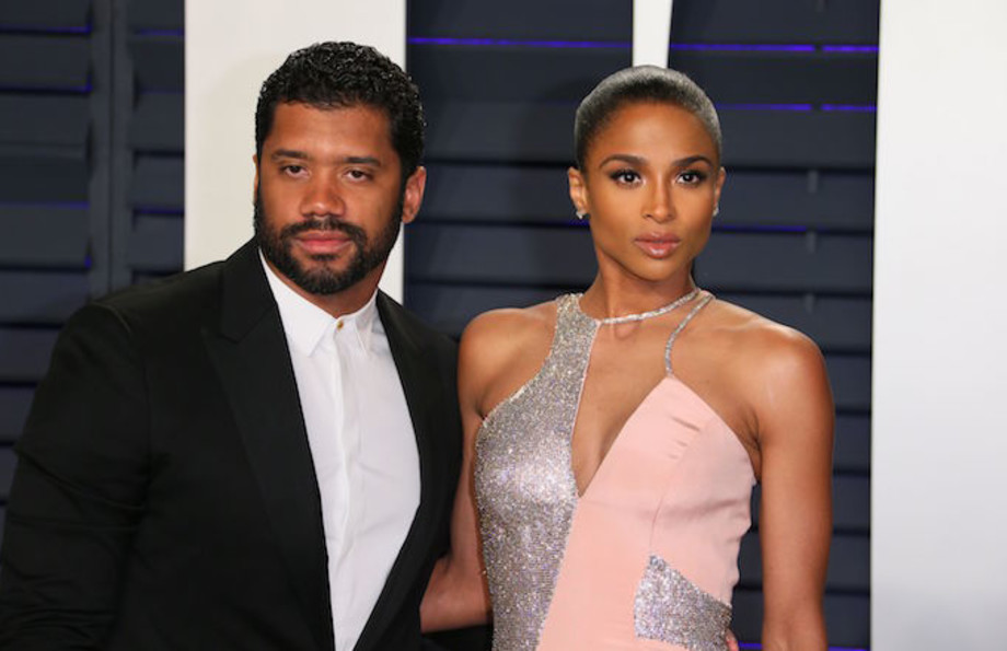 Ciara and Russell Wilson attend the 2019 Vanity Fair Oscar Party