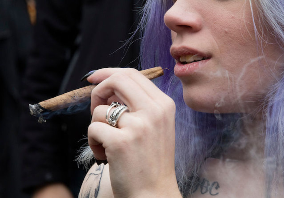 This is a picture of someone smoking.