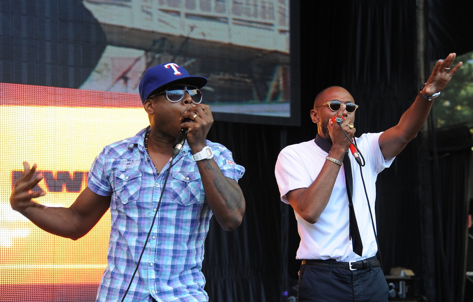 Talib Kweli and Mos Def of Black Star perform during the 2011 Rock The Bells Music Festival.