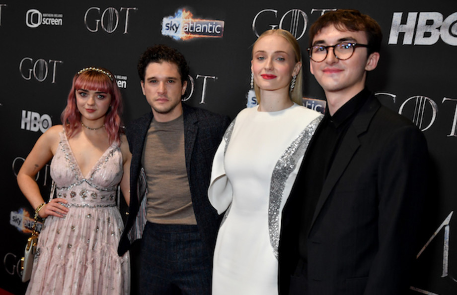 """Starks arrive at the """"Game of Thrones"""" season finale premiere."""