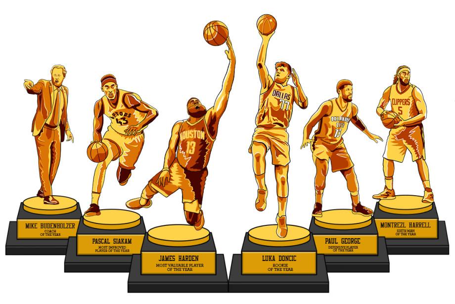 Lead Mid-Season NBA Awards 2019