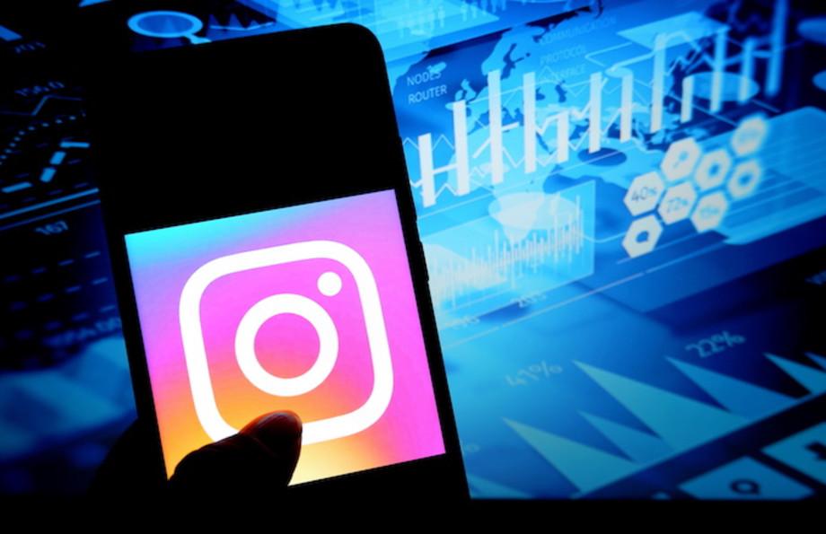 Photo illustration the popular photo video sharing social media application Instagram.