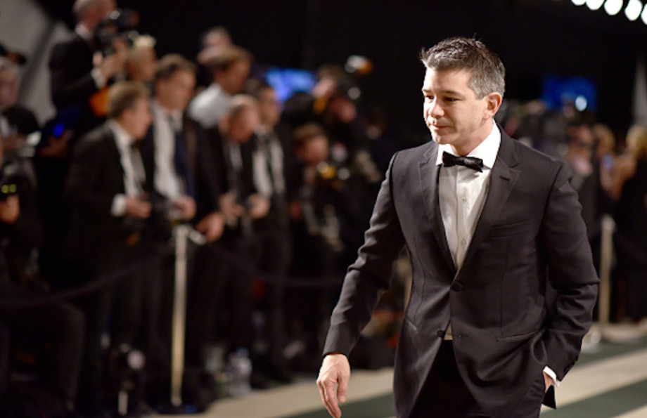 Co-founder of Uber Travis Kalanick attends the 2017 Vanity Fair Oscar Party