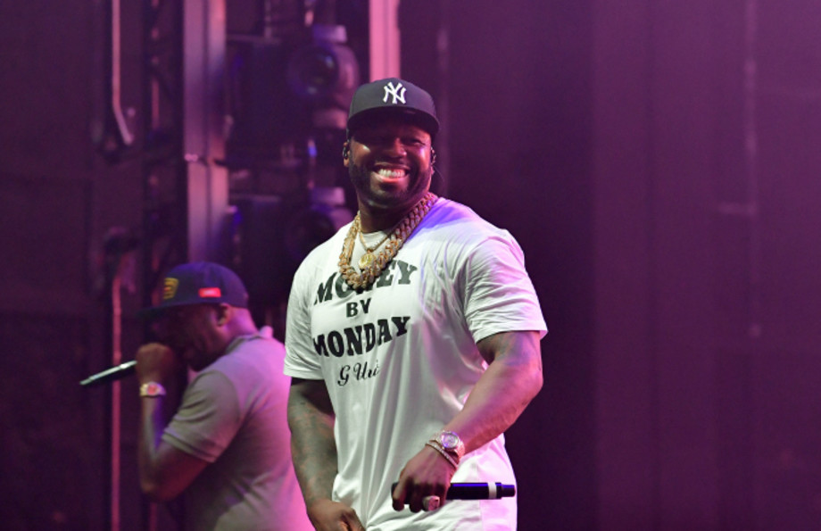 50 Cent performs during the 2019 Tycoon Music Festival at Cellairis Amphitheatre at Lakewood