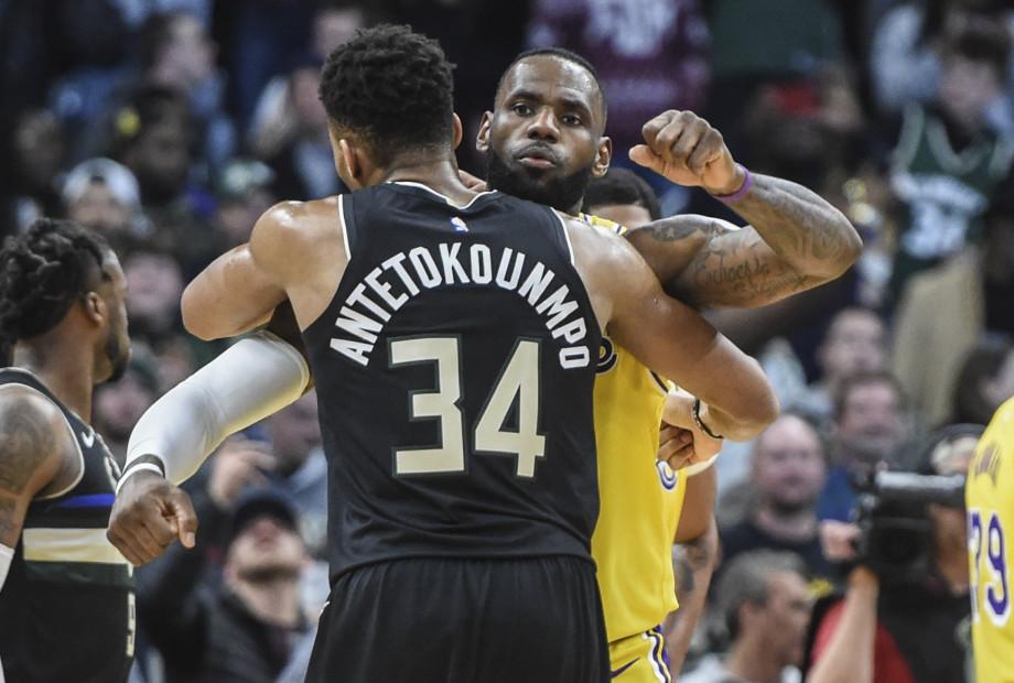 Giannis Antetokounmpo LeBron James Dec 2019 Milwaukee