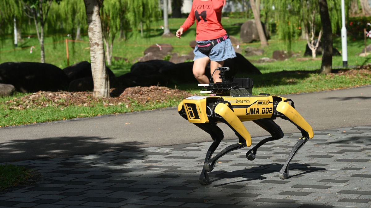 Singapore Deploys Robodogs to Enforce Social Distancing