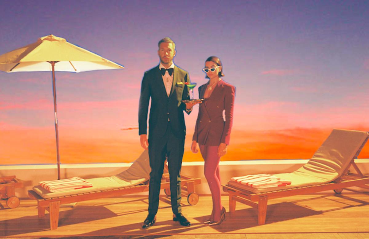 Watch Calvin Harris and Dua Lipas New Video for One Kiss