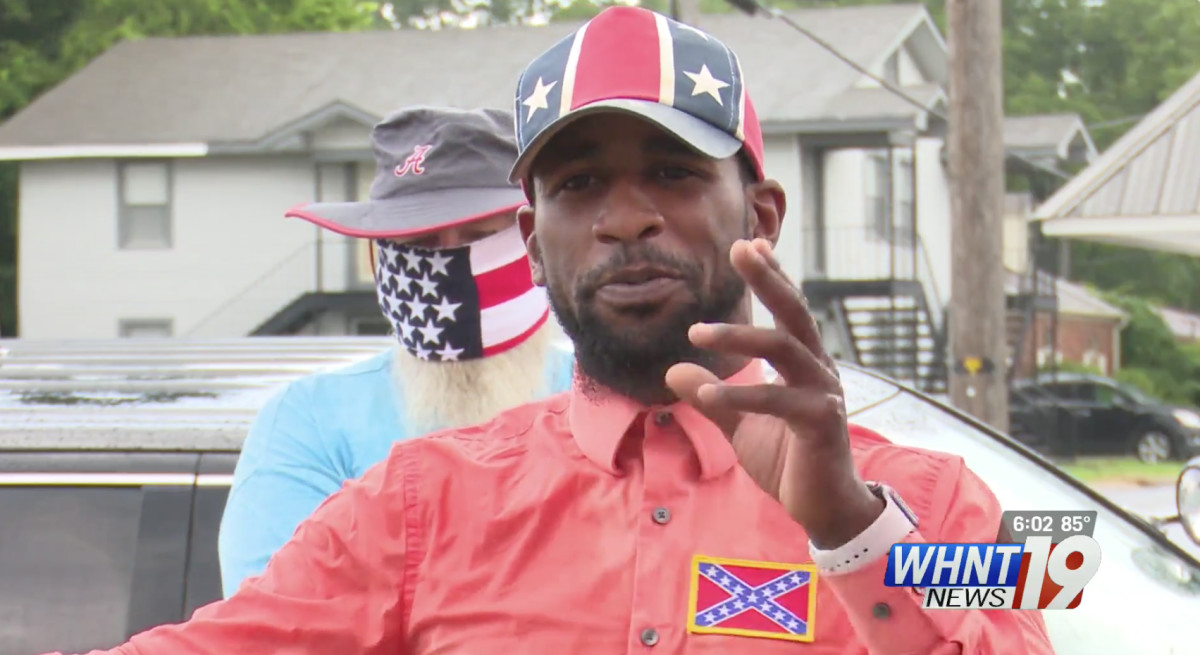Black Confederacy Supporter in Alabama Garners 'Chappelle's Show' Clayton Bigsby Comparisons
