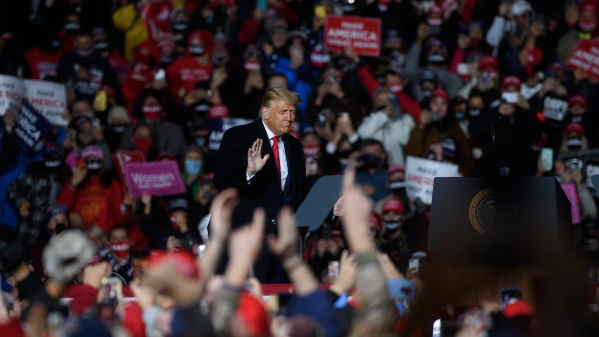 Poll Shows Half of Trump Supporters Believe Baseless QAnon Conspiracy Theory