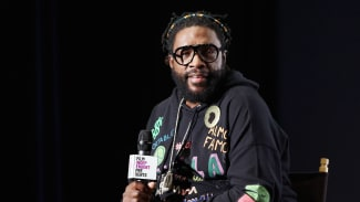 """Questlove speaks onstage during a special screening Of Questlove's """"Summer Of Soul"""""""