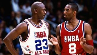Kobe Bryant with Michael Jordan