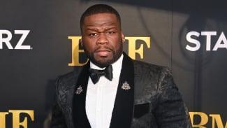 "50 Cent attends STARZ Series ""BMF"" World Premiere at Cellairis Amphitheatre"