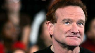 A photo of Robin Williams.