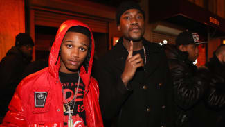 "Lil Snupe and Meek Mill attend Rockie Fresh ""Electric Highway"" Release Party"