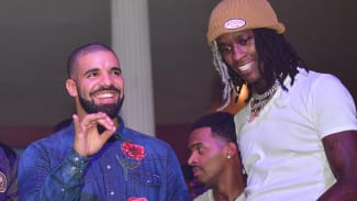 Drake and Young Thug attend the Summer Sixteen Concert After Party at The Mansion Elan on August 27, 2016