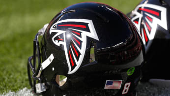 The helmet of an Atlanta Falcons player