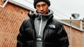 model wearing The North Face fo JD Sports Australia