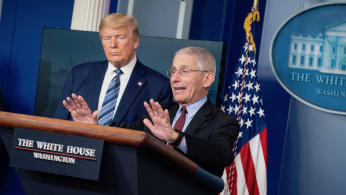 Dr. Fauci and Trump