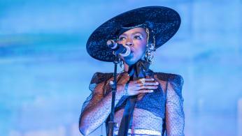 Lauryn Hill performs on stage in Castrelos Park, Vigo-1