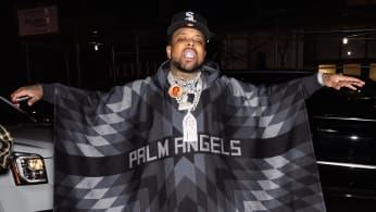 Rapper Westside Gunn is seen arriving to the Palm Angels Fashion Show