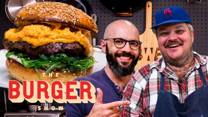 Binging with Babish and Matty Matheson's Krabby Patty-Inspired Burger Throwdown   The Burger Show