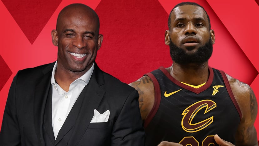 """LeBron Slams Playoff Play-In; Deion Sanders Calls All-Pro a """"Fan"""" 