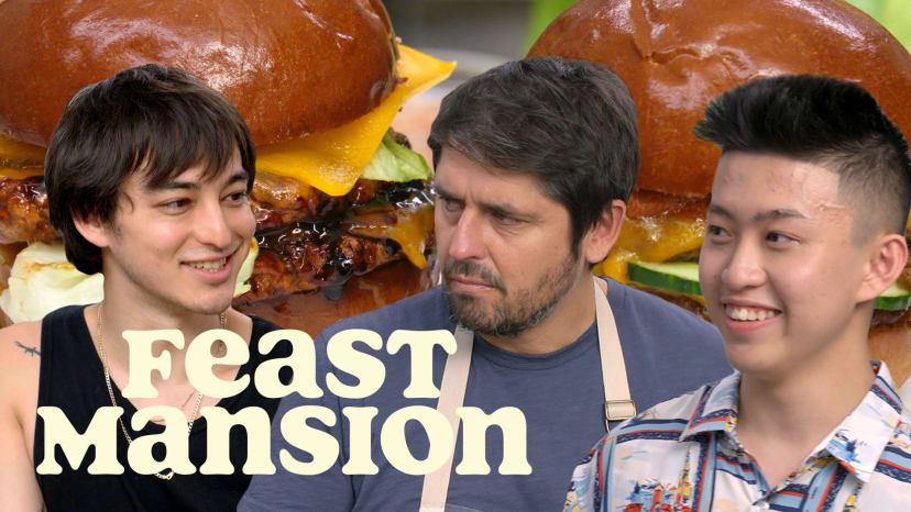 Joji and Rich Brian Make International Burgers with Chef Ludo | Feast Mansion