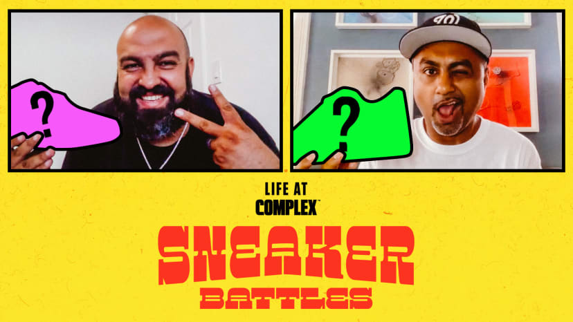 SoleStage Owner TheOriginalSaam vs OG Collector DontChargeAbdul In A SneakerBattle | #LIFEATCOMPLEX