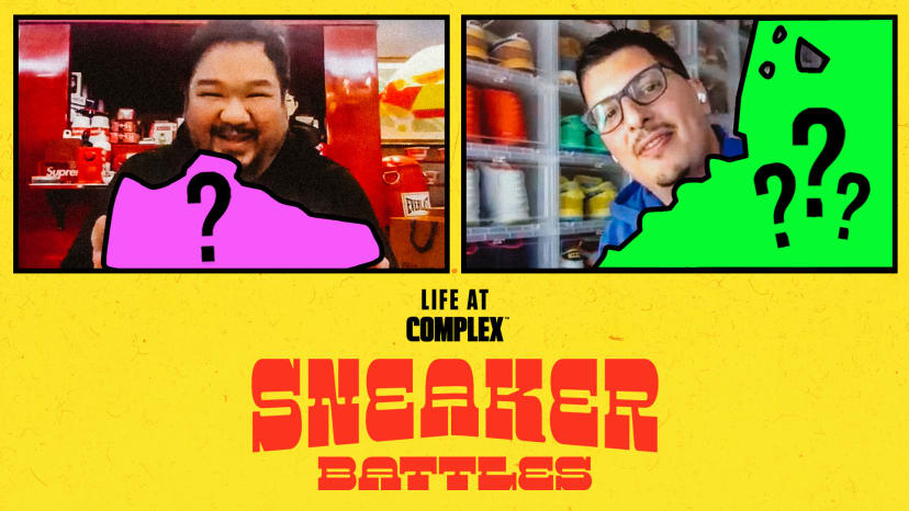 DJBigBoyCheng vs Jimboslice In An Epic SneakerBattle | #LIFEATCOMPLEX