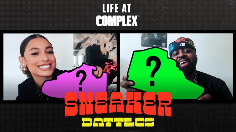 DaniLeigh vs Smoke DZA in a Spicy Sneaker Battle | #LIFEATCOMPLEX