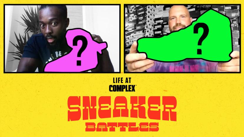 WWE Superstar Kofi Kingston vs Elite Sneaker Customizer Mache In A SneakerBattle | #LIFEATCOMPLEX